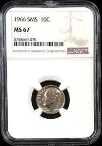 1966 SMS Roosevelt Dime certified MS 67 by NGC!