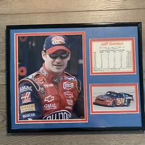 Jeff Gordon Number 24 - Matted And Frames 11 X 14