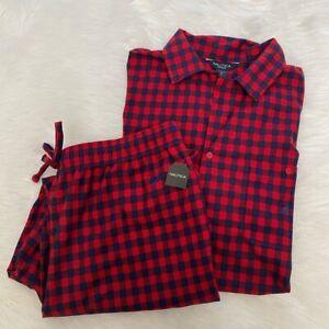 NEW wTag-NAUTICA Red/Blue Checkered Pajamas Sz XL
