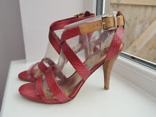 Nine West dark pink strappy high heel Sandals Size 40 BNIB