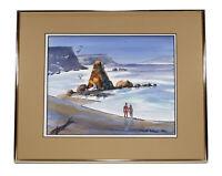 CALIFORNIA BEACH SCENE ART WATERCOLOR PAINTING RANDY WILSON LANDSCAPE SEASCAPE