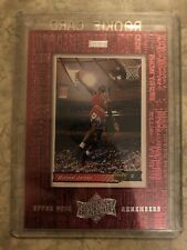 1999 99 UPPER DECK ATHLETE OF THE CENTURY UD REMEMBERS Michael Jordan #UD2