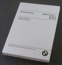 Ersatztteilliste-behelfs catalogue-BMW R 26-R 27-R 50 à R 69 S