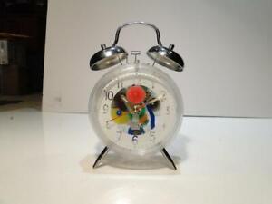 Unique Sterling & Noble Lucite Plastic Gear Driven Alarm Clock