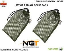 Air Dry Boilie Bags X 2 Green Mesh Carp Coarse Fishing Bait Air Drying Bag Small