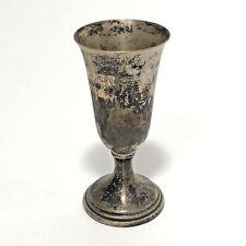 Antique Trophy Goblet Sterling Silver Preinser 8 Engraved Queen 1954 Aged Patina