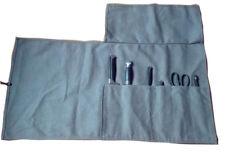 6 Pocket Japanese Chef Knife Roll Bag Canvas Leather Knife Storage Case Wallet