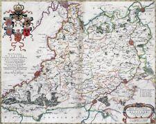 Reproduction carte ancienne - Comté d'Alost (Aalst) 1664