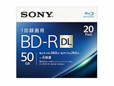 20 Sony BD-R DL 50GB 4x Blu-ray Disk Made in Japan Blank Disc Dual Layer