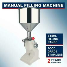 More details for a03 5-50ml manual liquid paste cream oil filling machine 0.17-1.7oz filler