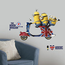 MINIONS MOVIE Giant Wall Mural Despicable Me Room Decor Stickers Decals London