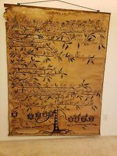 1800's ITALIAN GENEALOGY RARE HUGE PAINTED MONFERRATO FAM. 933 AD -1915  57 X 72