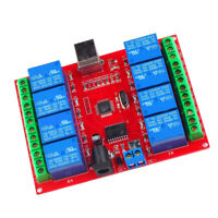 DC 12V 8 Channel USB Relay Board Module with LED Indicator Computer Control