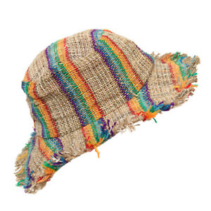 Striped Hemp Sun Hat Hippy Beach Hat