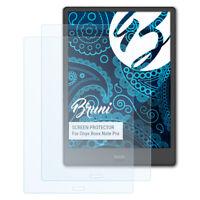 Bruni 2x Proteggi Schermo per Onyx Boox Note Pro Pellicola Protettiva