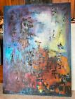 Original Oil Painting Abstract- Hommage to Zao Wouki