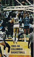 1983-84 COLUMBIA UNIVERSITY LIONS BASKETBALL POCKET SCHEDULE