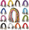 Wholesale Lots 10pcs Lots Braided Rope Charm Leather Bracelet Many Colors Pick