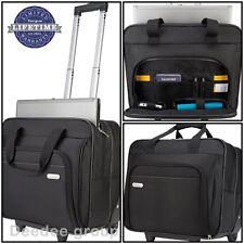 Travel Business Bag Luggage Rolling Laptop Notebook Briefcase Computer Black Men