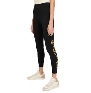 Nike Women's Black Gold Just Do It High Rise Leggings Size Medium RRP £44.99