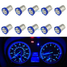 10Pcs Blue 12V LED Instrument Panel BA9S 8SMD 1815 Light Bulb 1895 For Pontiac