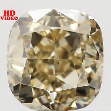 Natural Loose Diamond Brownish Yellow Color Cushion SI2 Clarity 0.71 Ct L5778