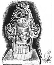 Tribal Statue Still Life Pencil Drawing Black and White - ACEO Print 1 of 10