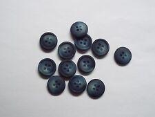 8pc 20mm blu e ardesia bianco finto corno Camicia Abito Cardigan maglieria pulsante 3973