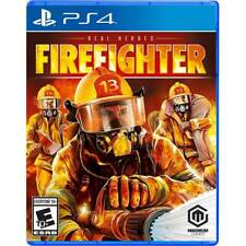 REAL HEROES FIREFIGHTER PS4 NEW! SIMS, FIGHT FIRE FIGHTER, FIRETRUCK FUN