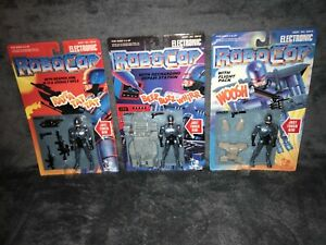 3 TALKING ROBOCOP ORION TOY ISLAND 1993 RETRO VINTAGE MINT NEW AND SEALED