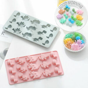 Dinosaur Cake Jelly Cookies Soap Mold Chocolate Baking Mould Tray Wax Ice Cube