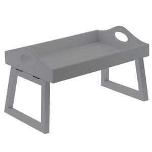Grey Sofa Tray Wooden Arm Chair Tray Foldable