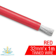 1m X 32mm RED 188A MARINE ANCHOR WINCH HEAVY-DUTY BATTERY TINNED COPPER WIRE