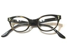 Dark Tortoise Color Taupe Sienna Cat'S Eye Shape Eyeglass Frame Glasses Vintage