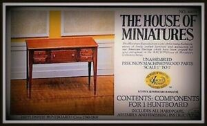 DOLL HOUSE OF MINIATURES HEPPLEWHITE HUNTBOARD KIT, CHARMING ANTIQUE REPLICA