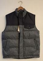 Woolrich Bitter Chill Insulated Vest Wool-Loft Mens Medium Black Gray NWT