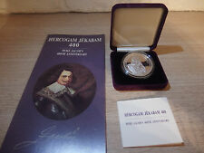 1 lats 2010 Latvia Duke Jacob´s 400th Anniversary Silver Collector Coin PROOF