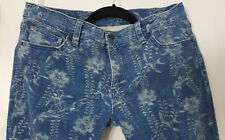 30x34 Ralph Lauren Denim & Supply Slim Floral Print Skinny Blue Jeans