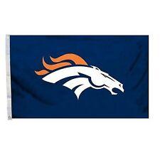 NFL Denver Broncos Logo Flag With Grommets 3 X 5 Feet