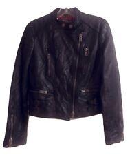 POLO Ralph Lauren Crinkled Leather Moto Jacket Size Medium MSRP: $999.00