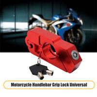 Lucchetto Blocca da Manubrio Leva Freno Moto Antifurto Protezione Universale