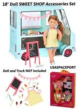 "18"" Doll Food Truck ACCESSORIES SET Icecream Sweet Snack Shop for American Girl"