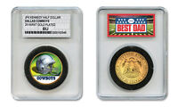 DALLAS COWBOYS NFL *GREATEST DAD* JFK 24KT Gold Clad Coin SPECIAL LTD. CASE