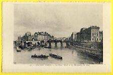 cpa Gravure PARIS en 1832 Le PONT NEUF et la MONNAIE Quai de CONTI par Canella