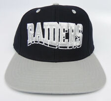OAKLAND RAIDERS NFL VINTAGE SNAPBACK RETRO 2-TONE BLOCK BLACK/GRAY CAP HAT NEW!