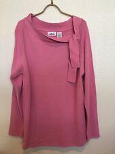 1411 Four Teen Eleven Pink Women/Junior Sweater Long Sleeve Sz XL