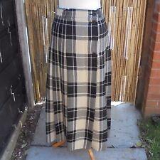Vintage Escada UK 10 Navy Tartan Wool Skirt /38 EU/6 US/Escada By Margareta Ley