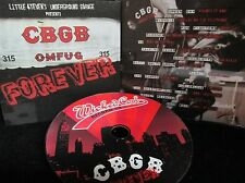 CBGB Forever,NEW! CD FREE SHIP! ,GREEN DAY,Blondie,Ramones,Rancid,Talking Heads
