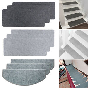 14/15X Stair Tread Carpet Mats Step Staircase Non Slip Mat Protection Cover Pads