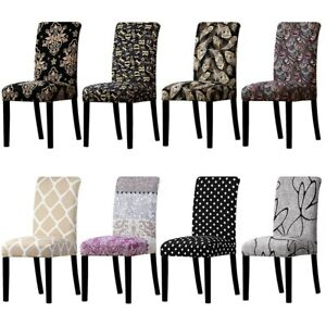 Print Chair Removable Stretch Washable Good Quality Seat Covers Universal Size